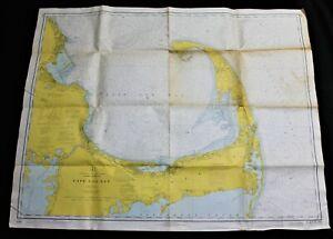 CAPE COD BAY MASSACHUSETTS NAUTICAL CHART MAP 1971 NATIONAL OCEAN SURVEY VINTAGE