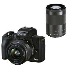 Canon EOS M50 Mark II Kit w/EF-M 15-45mm & EF-M 55-200mm IS STM (Black) *NEW*
