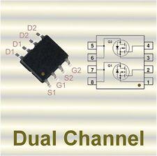 3 x fds8958a Dual-MOSFET N-CH/P-CH +/- 30v +7a/- 5a 28/52 Mohm so8