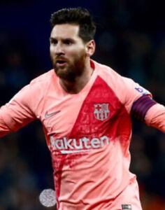 NIKE Barcelona Shirt & Shorts Age 5-6 Football Away Boys Pink Genuine