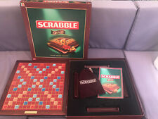 SCRABBLE DELUXE Edition Wooden Tiles/Board Surround Game by Mattel - 2005 RARE