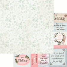 Kaisercraft Fairy Garden 12x12 Scrapbook Paper Wishes Nini's Things