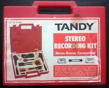 """TANDY """"STEREO RECORDING KIT"""" IN CARRY CASE"""