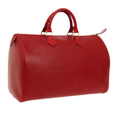LOUIS VUITTON SPEEDY 35 HAND BAG VI0965 PURSE RED EPI LEATHER M42997 S09299j