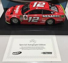 """2018 1/24 #12 Ryan Blaney """" Wrangler """" Autographed Fusion 1 of 72 In Stock"""