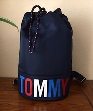 Tommy Hilfiger Women Navy Tommy Medium Nylon Duffel Backpack NWT MSRP 99$+TAX