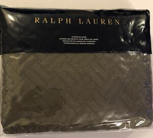 """Ralph Lauren 26"""" x 26"""" Greenwich European Sham Quilt NEW"""