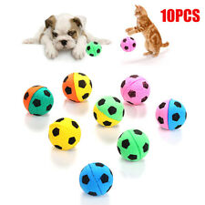 10Pcs Cute Pet Cat Dog Puppy Soft Soccer Play Balls Bite Scratching Chew Toy