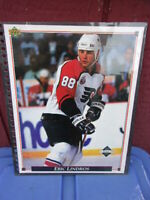 "Eric Lindros Limited Edition 92/93 Upper Deck Jumbo Card 8 1/2 "" X 11"" inches NM"