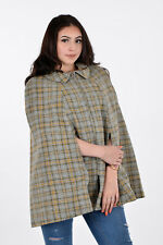 VINTAGE WELSH WOOL CHECK CAPE