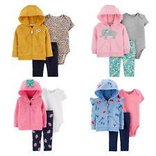 New MSP $32 Carters Baby Girl 3-Piece Little Jacket Set Jacket Pants & Bodysuit