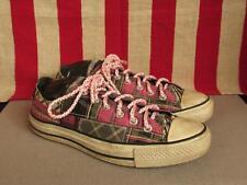 vintage Converse Ct Cuadros Zapatillas Bajo blusas para mujeres sz.10 Zapatos