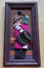 """BOLIVIA Vintage Textile Framed Folk Art 5.5"""" X 10"""""""