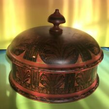 Spice Box Lacquered Lacquer Wood asian Art Museum Pakistan Antique Wooden