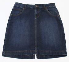 Max Rave Junior Womens Skirt Stretch Denim Dark Wash Indigo Size 7 29 x 17