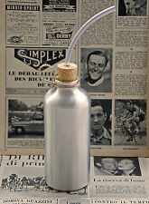 Vintage 1950's Style Bicycle Aluminium Water Bottle with Drinking Straw L'Eroica