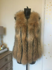 Fox Fur Gillet Sleeveless Jacket Waistcoat S/M BNWT