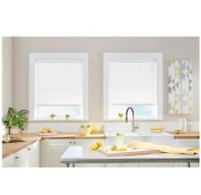 Natural Cordless Ivory Light Filtering Roller Shade 23 In. W X 64 In. L
