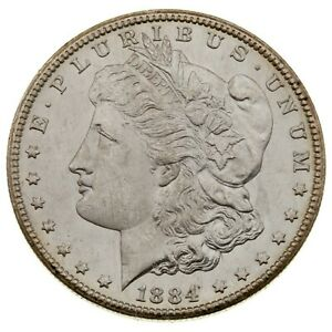 1884-CC $1 Silver Morgan Dollar in Choice BU Condition, Excellent Eye Appeal