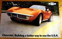 1972 CORVETTE C3 Original Brochure Poster