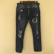 7 For All Mankind Women Sz 26 Josefina Skinny Boyfriend Jeans 100% Cotton