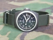 Rare Gen 1 mb microtec Traser Betalight Military Watch 100ft/30m Swiss Made NATO