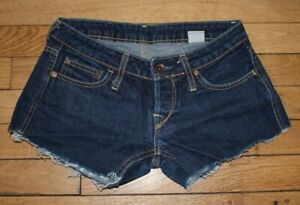 P&Y Short en Jeans Femme W 27  Taille Fr 36 (Réf # V-174)