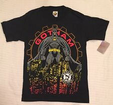 NEW 1992 DC COMICS Vtg BATMAN GOTHAM CITY Public Works Graphic T-Shirt Large NWT