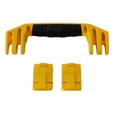 Pelican Yellow 1450 / 1500 replacement latches (2) & handle (1) kits.