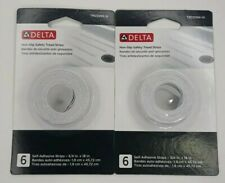 Lot 2 Delta Non-Slip Safety Tread Strips Traction Slippery Bath Tub Shower 6 Pk