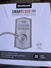New - Kwikset SmartCode 955 Commercial Electronic Lever Satin Nickel 99550-002