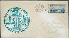1949 LOUISIANA EVENT COVER - 250th ANNIV BATON ROUGE - INFO CARD - CACHETED!