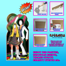Disco Couple Stand In Photo Prop Lifesize Star Cardboard Cutout 1970s 80s Party