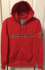 """Nike """"Team Canada"""" Hockey""""RARE""""Full Zip Embroidered Hoodie~Size S *NEW*FAST/SHIP"""