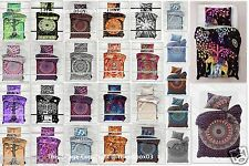Indian Hippie Mandala Ombre Twin Size Bed Quilt Duvet Doona Cover Blanket Boho