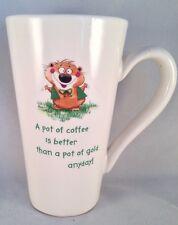 "Irish Leprechaun Chipmonk ""A Pot of Coffee Is Better Than Gold"" Coffee Mug Latte"