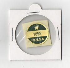 ROLEX 1655 Sticker Caseback EXPLORER II VINTAGE Orange Hand 1970s OEM Freccione