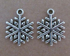 20pc Charm CHRISTMAS SNOWFLAKE Pendant Dangle DIY Accessories Jewelry Making 44H