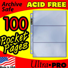 3 POCKET CURRENCY STORAGE PAGES ULTRA PRO PLATINUM 100