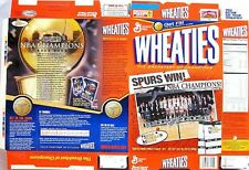 2003 Nba Spurs Champions Wheaties Cereal Box Flat bp3