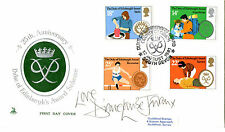 12 AUGUST 1981 DUKE OF EDINBURGH AWARD SIGNED DIANE LOUIS JORDAN FIRST DAY COVER