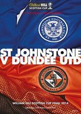 * DUNDEE UNITED v ST JOHNSTONE - 2014 SCOTTISH CUP FINAL - MINT PROGRAMME *