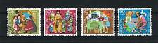 4 Francobolli Svizzera Pro Juventute 1985 usati