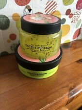 THE BODY SHOP CACTUS BLOSSOM GEL SCRUB AND BODY BUTTER DISCONTINUED NEW