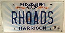 Music vanity RHOADS GUITAR license plate Randy metal Ozzy Osbourne Quiet Riot