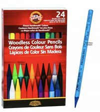 KOH-I-NOOR Woodless Professional Artist  Colour Pencils 24 Pack KOHINOOR Sealed
