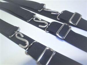unique black trendy elastic  snake belts adults retro style metal buckle & slide