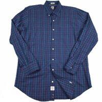 Peter Millar Men's Checkered Sz Large Long Sleeve Button Down Shirt Navy Multi