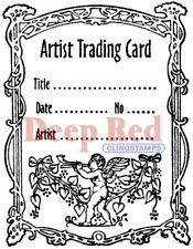 Deep Red Stamps ATC Angel Rubber Cling Stamp