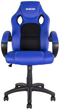 NEW BIKETEK SUZUKI BLUE OFFICE GARAGE MOTOCROSS MX ENDURO RACE TEAM RIDER CHAIR